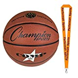 Champion Sports Composite Basketballs Orange Bundle with 1 Performall Lanyard SB1030-1P