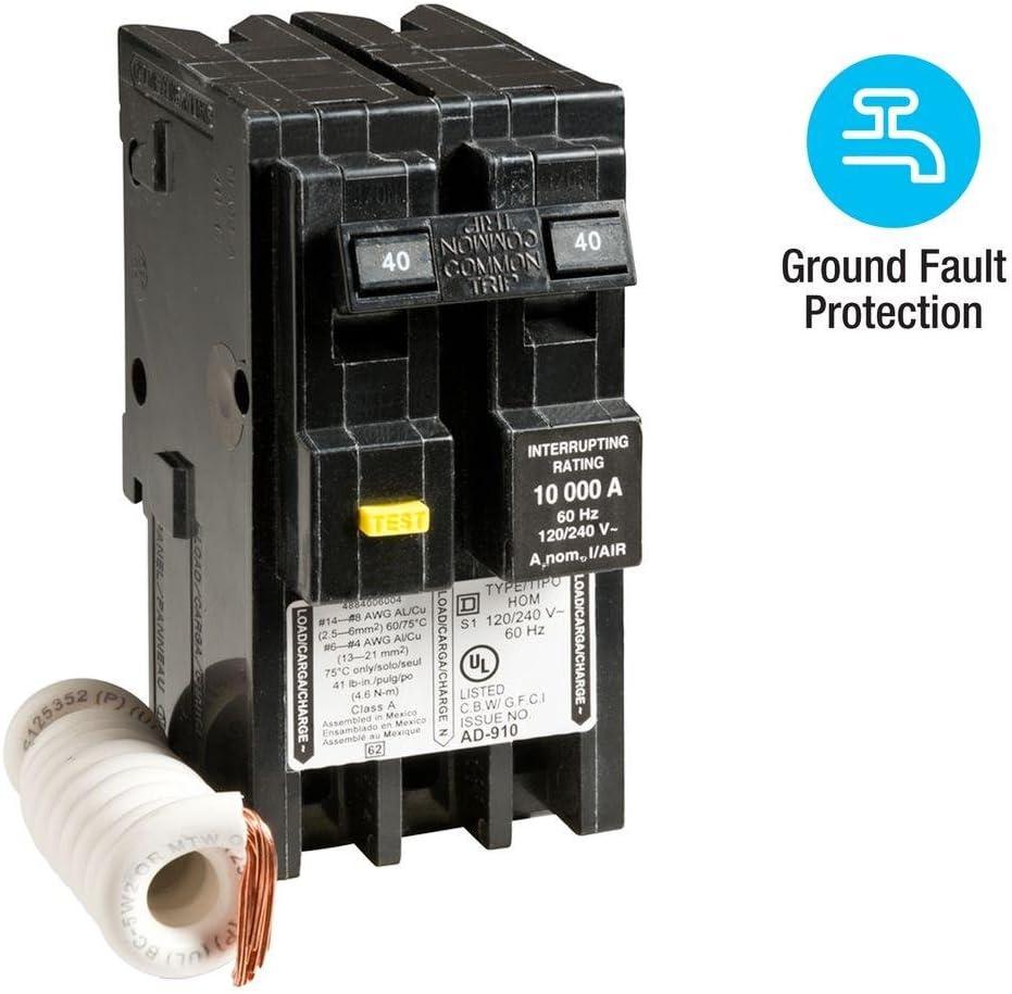 Square D HOM260 2 Pole 60 Amp 120//240 Volt Circuit Breaker HOM 10kA