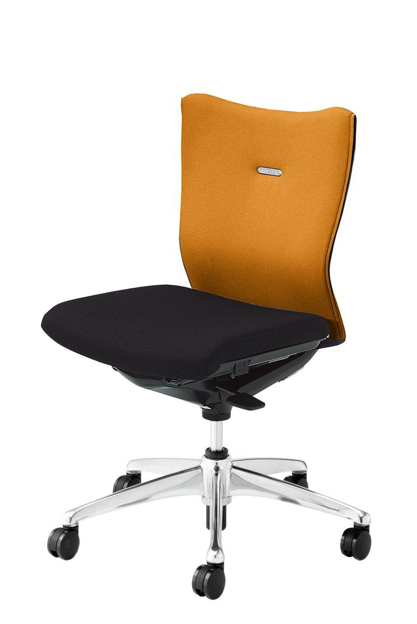 オカムラ フィーゴ デスクチェア オフィスチェア ミドルバック 肘なし サイドファスナータイプ CJ33ZR-FAR8 オレンジ B00318KX7I オレンジ オレンジ