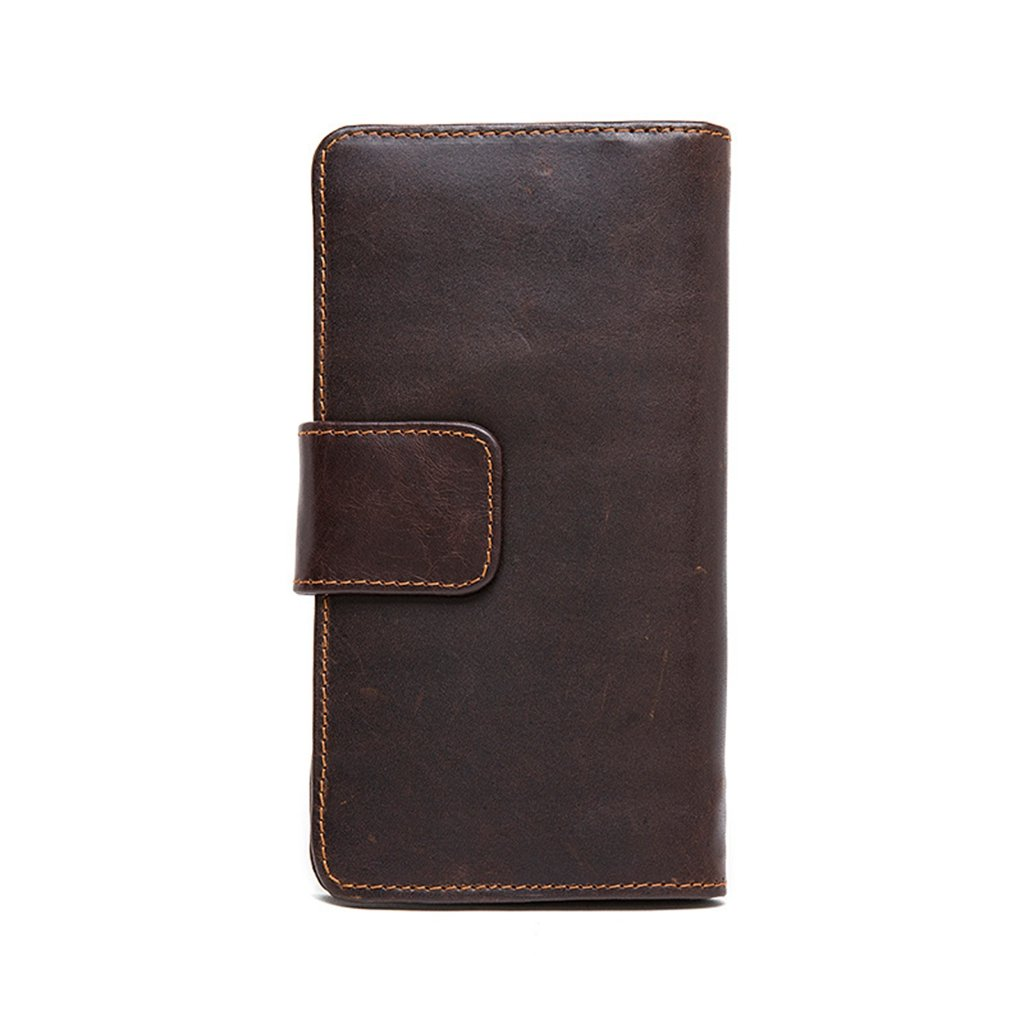 Mens Leather Wallet RFID Blocking Credit Card Holder Coin Pocket Purse 11x1.5x20CM,#1