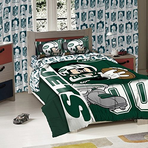 New York Jets NFL Twin/Full Sized Comforter with Shams