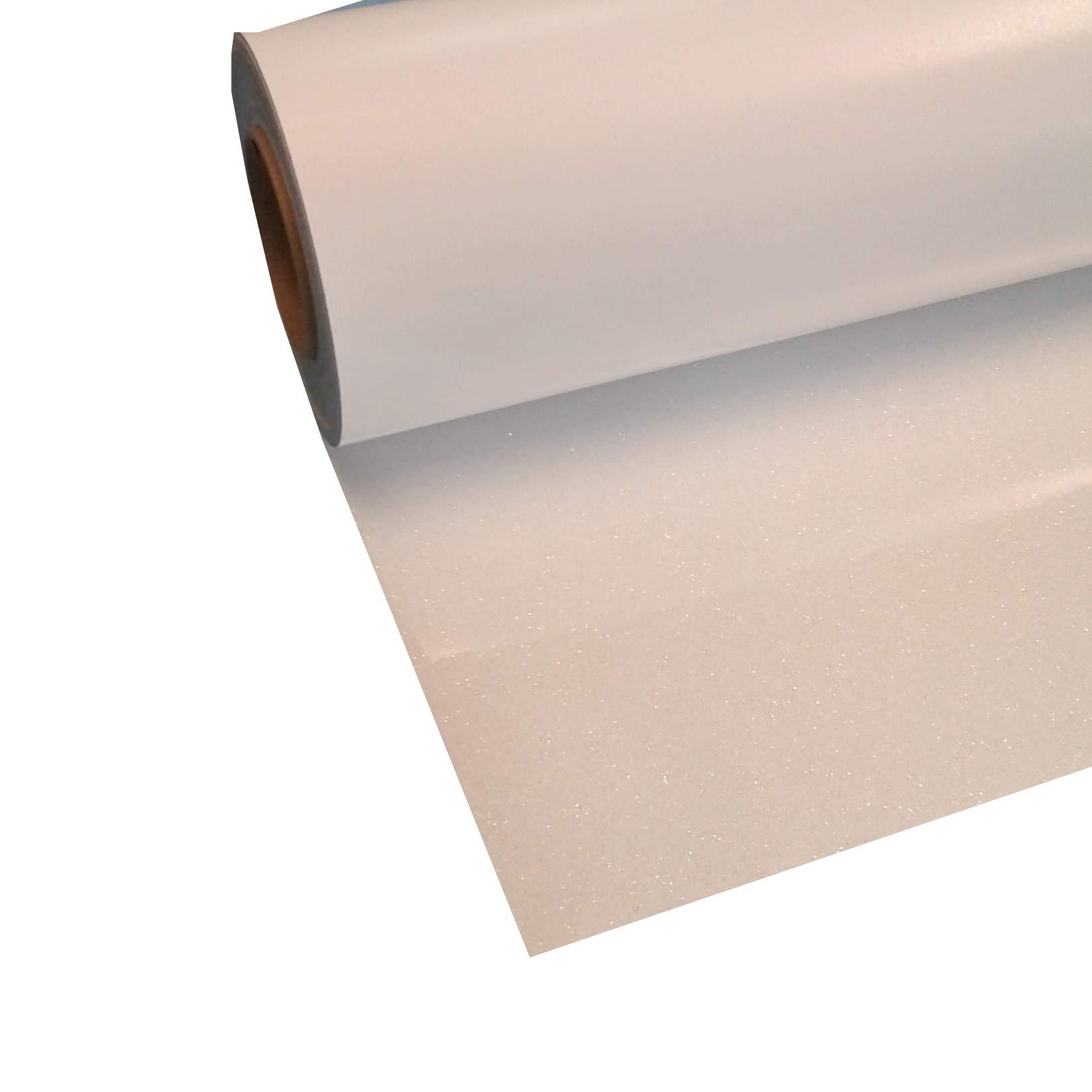Siser Glitter White 20'' x 15' Iron on Heat Transfer Vinyl Roll, HTV
