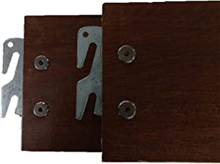 """product image for Vaughan-Bassett Queen or King 82"""" Medium Cherry Hook-On Wooden Bed Rails. Set of Two. (Queen)"""