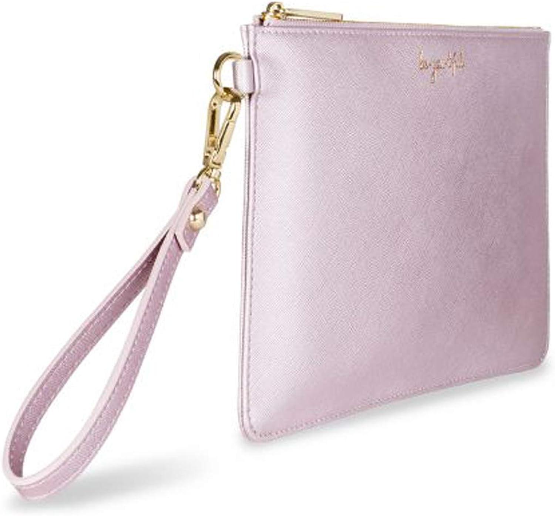 Katie Loxton Secret Message Be-you-tiful Pretty Pink Women's Faux Leather Clutch Secret Message Pouch