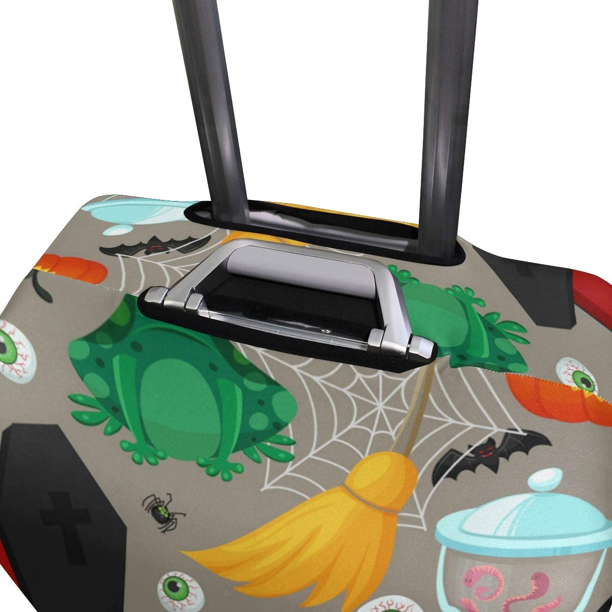 Happy Halloween Travel Luggage Cover Stretchable Polyester Suitcase Protector Fits 18-20 Inches Luggage