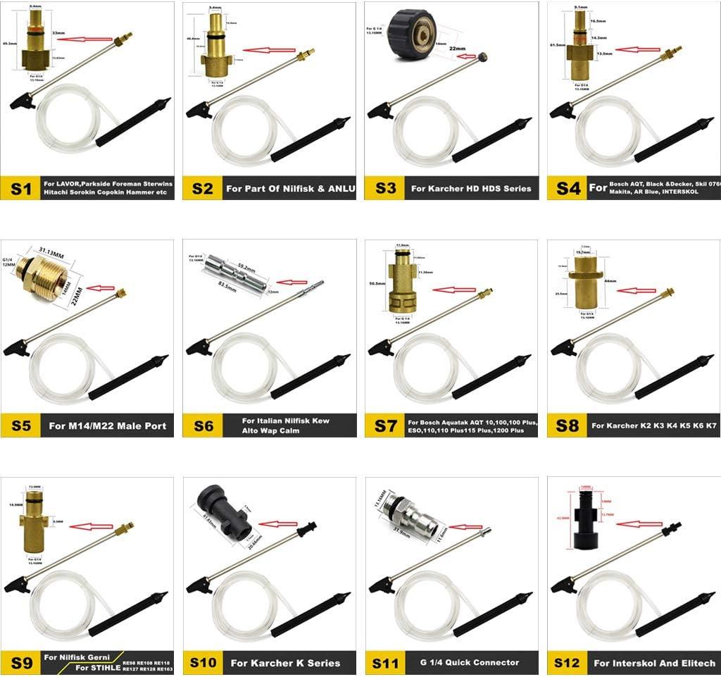 Yanhonin Pression Nettoyeur Sablage Kit De Fixation Tuyau De Sablage Adaptateur De Connecteur pour Nettoyeurs Haute Pression