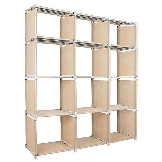 Azadx - Estantería Ajustable, Cubos de Almacenamiento, Estante de Almacenamiento para Muebles de hogar, Sala de Estar, Dormitorio, Oficina: Amazon.es: Hogar