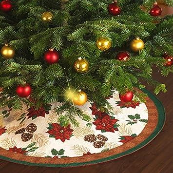 Tapis décoratif pour sapin de Noël: Amazon.fr: Cuisine & Maison