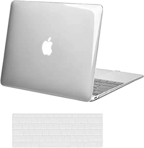 MOSISO Plastic Hard Shell Case & Keyboard Cover Skin Only Compatible with MacBook 12 inch with Retina Display (Model A1534, Release 2017 2016 2015), Crystal Clear