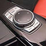 自動車用アルミ合金マルチメディアボタンカバーノブ フレーム装飾トリム BMW 1 2 3 4 5 6 serious F30 F32 GT F34 F10 F06 X1 X3 X4 X5用 シルバー ATB-MY-86JG