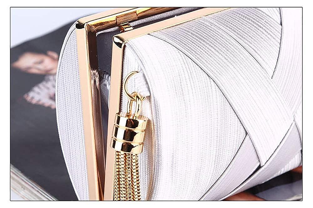 Evening Bag Elegant Party Tassel Clutch Bag Rhinestone Striped Party Wedding