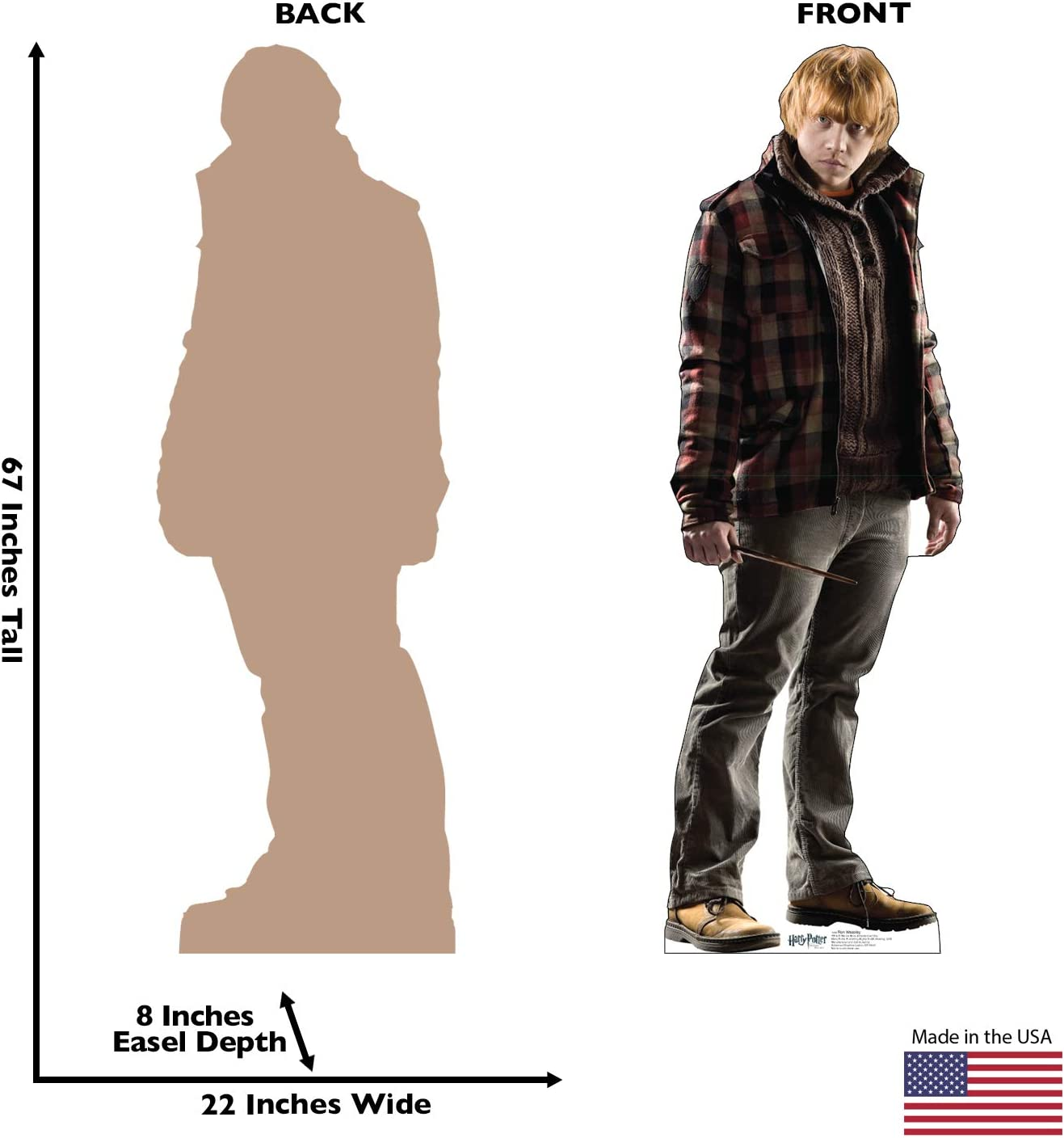 Harry Potter and The Deathly Hallows Advanced Graphics Ron Weasley Life Size Cardboard Cutout Standup