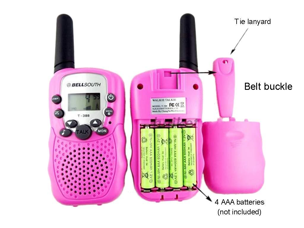 Banbu Kids Walkie Talkies 22 Channel FRS Toy for Kids Uhf FRS 2 Way Radio Toy, 2Packs,Black by Banbu (Image #4)