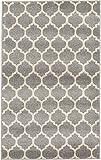 """Unique Loom Trellis Collection Dark Gray 3 x 5 Area Rug (3' 3"""" x 5' 3"""")"""