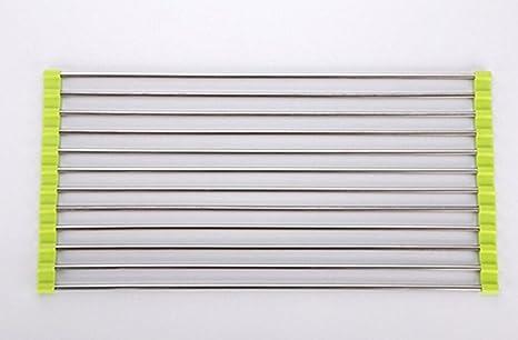 Amazon.com: Escurreplatos de acero inoxidable – Esterilla de ...