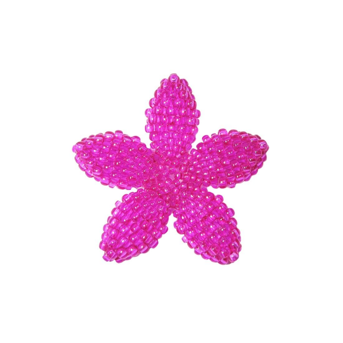 Heart in Hawaii Beaded Plumeria Flower Brooch Tiny 20 Color Choices