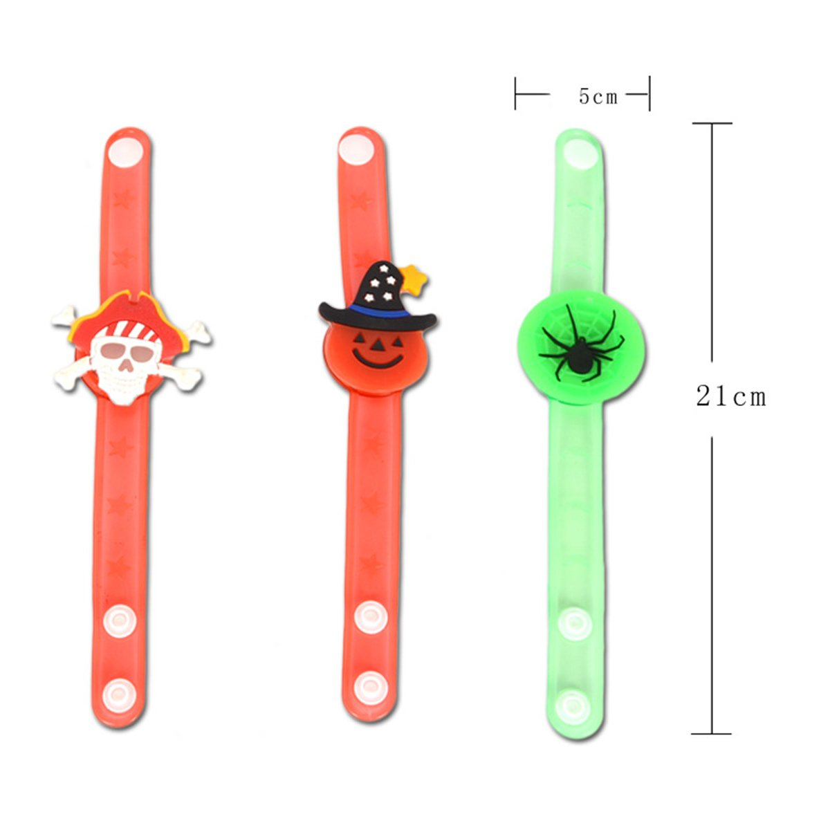 YeahiBaby 6Pcs Light up Bracelets Party Favor Light Up Wristbands for Halloween Chritmas Festival Dance Party by YeahiBaby (Image #5)