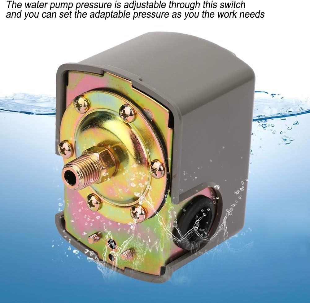 4Interrupteur de Contr/ôle de Pression de Pompe /à eau Double Ressort R/églable 0.8-5.0bar G1 Interrupteur de Contr/ôle de Pression
