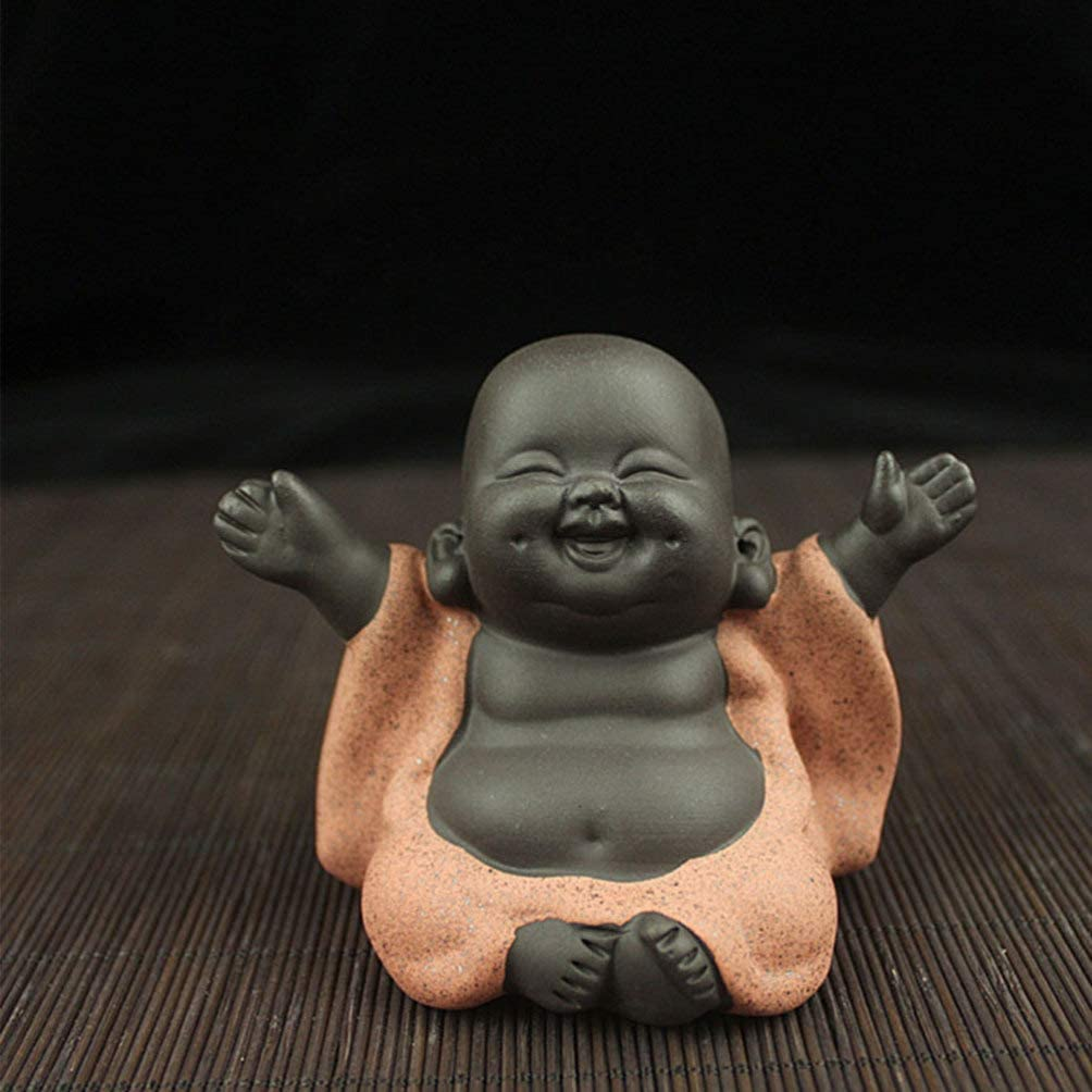 Healifty Estatuas Creativas de Buda de Cer/ámica Peque/ña Estatua de Buda Linda Monje Estatuilla Creativas Artesan/ías para Beb/és Mu/ñecas Adornos Regalo Chino Delicadas Artesan/ías de Cer/ámica