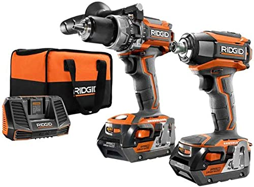 Ridgid ZRR9205 GEN5X Brushless 18-Volt Compact Hammer Drill Driver and 3-Speed Impact Driver Combo Kit Renewed