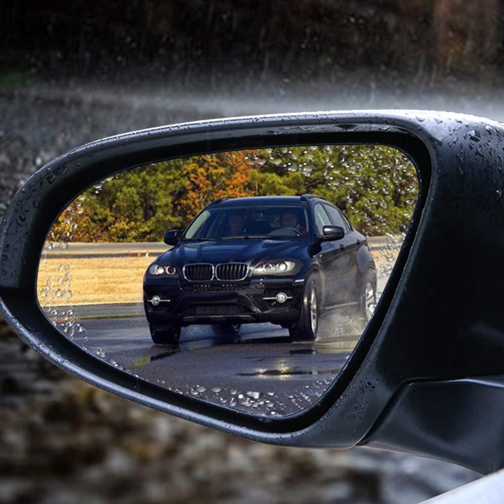 Kongnijiwa 2pcs Car Rearview Mirror Anti Pluie Film R/étroviseur Universel /étanche Anti-poussi/ère Anti-bu/ée /à Membrane
