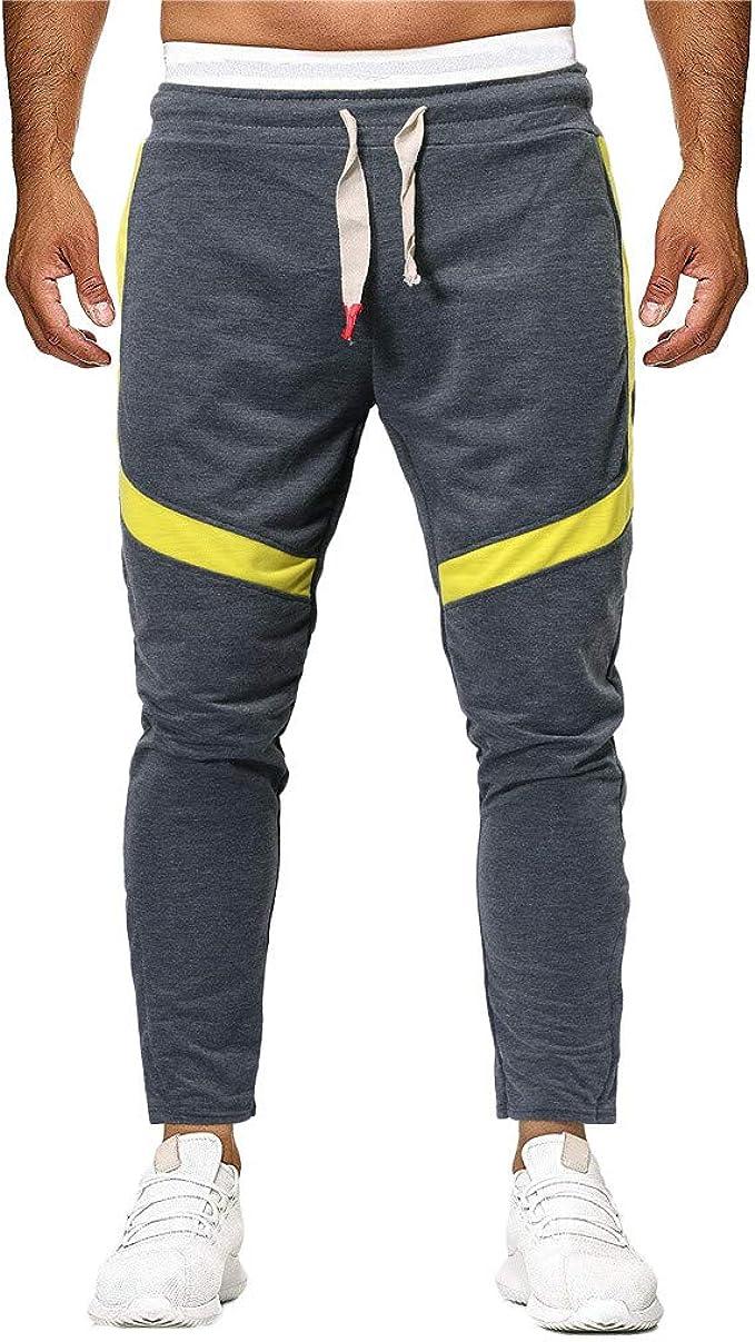 Btruely Moda Pantalón Chandal Hombre Pantalones Deportivos con ...