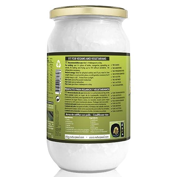 Naturseed Aceite de coco - Virgen Extra Organico, Ecologico - Puro ...