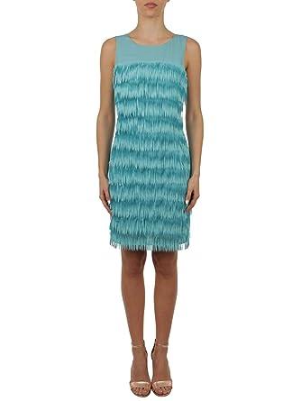 aefe321be2a Patrizia Pepe Women's 2A1783A3ECC696 Light Blue Polyester Dress at Amazon  Women's Clothing store:
