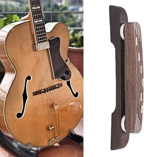 Dilwe Puente de Madera de Guitarra, Ajustable Rosewood Puente ...