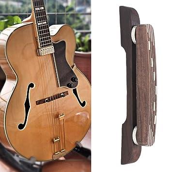 Dilwe Puente de Madera de Guitarra, Ajustable Rosewood Puente Reparación Parte Accesorio para 6 Cuerdas Jazz Guitarra: Amazon.es: Deportes y aire libre