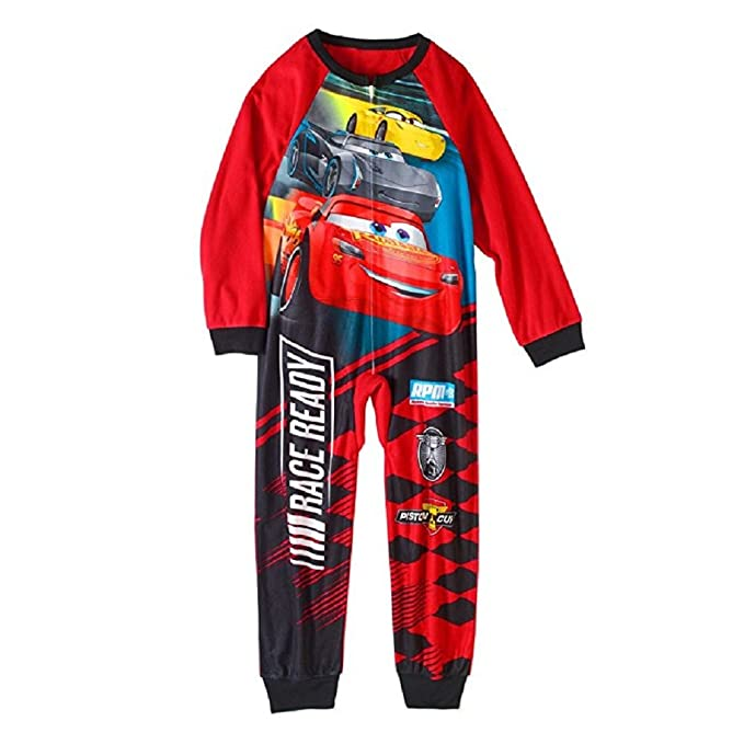 f4d824f64 AME Disney Cars Little Boys One Piece Fleece Sleeper Pajama (4 5 ...