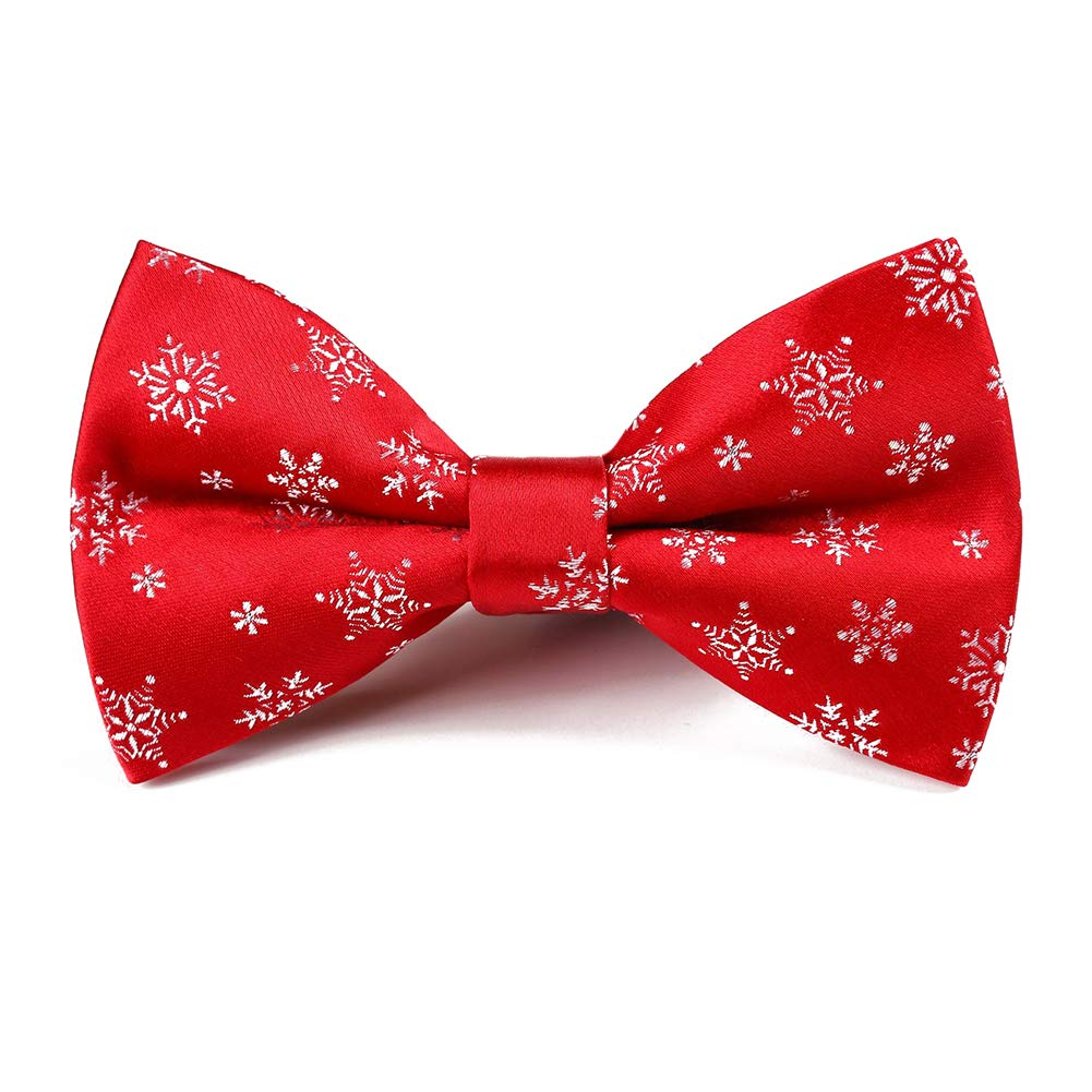 Dertring 6 PCS//LOT Christmas Bow Ties Woven Pre-tied Bowtie for Mens Neckwear Gifts
