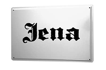 Cartel de chapa Placa metal tin sign Jena City Nombre de la ...