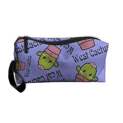 West Cactus Cartoon Unisex Leggiere Travel Hanging Organizer Kit Bag Sewing Kit Medicine Bag For School