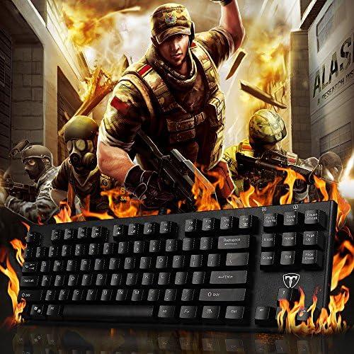 Teclado Mecánico TopElek. Teclado para gamers, sistema anti-ghosting, resistente al agua para gaming MineCraft, World of Warcraft, League of Legends, ...