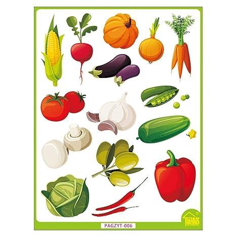 Yuting Lovely Verduras Pegatinas De Dibujos Animados