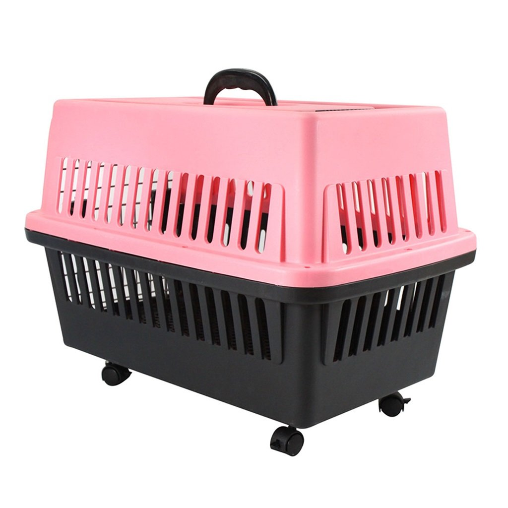 PINK Airline Approved Duffle Bags Pet Travel Portable Trolley Case Pet Carrier Crate for Dogs Cats color Optional (color   Pink)