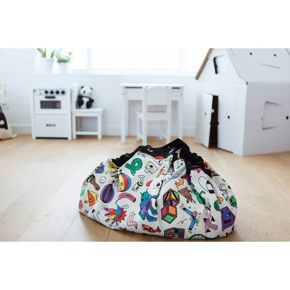 MEIYA Spielzeug-Speicher-Beutel gro/ße Lagertragetasche Mat Tragbare Kinder Spielzeug Organizer for Kinder tragbare Spielzeug-Speicher-Container