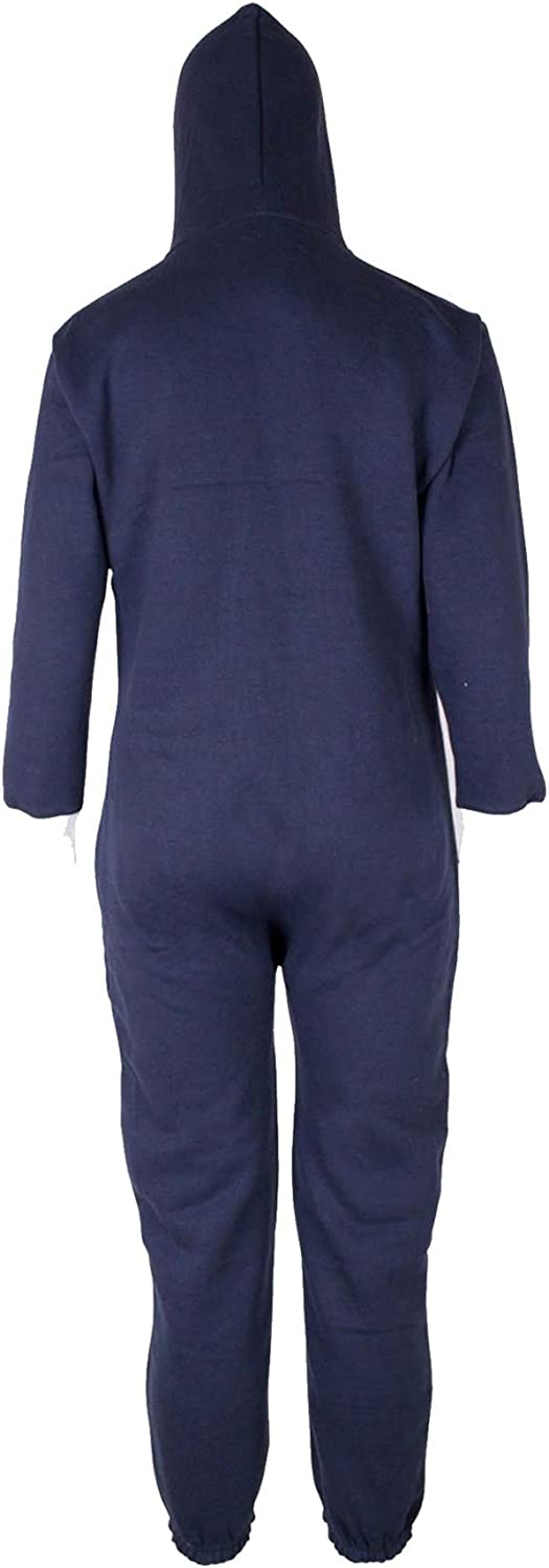 Kids Boys Girls Plain Hooded 1Onesie All in one Jumpsuit Playsuit Sizes 7-13 YRS