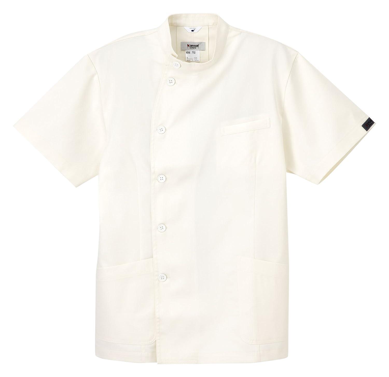 (ナガイレーベン) NAGAILEBEN 山本寛斎 カンサイ 男子 ジャケット 半袖 白衣 KNX-712 B014SJZQES ホワイト L