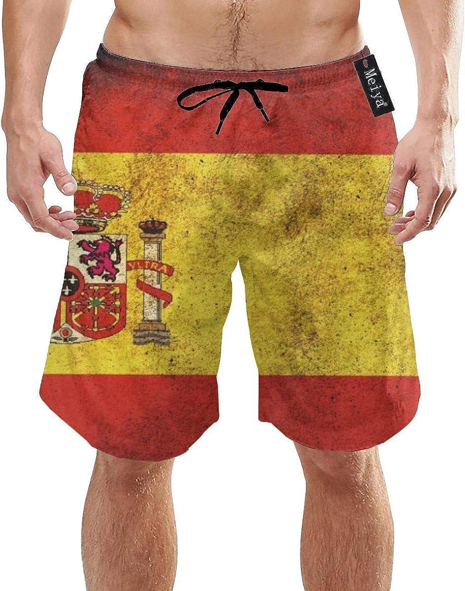 EU Pantalones Cortos de Secado rápido con Forro Deportivo de Bandera española para Hombre con Forro: Amazon.es: Ropa y accesorios