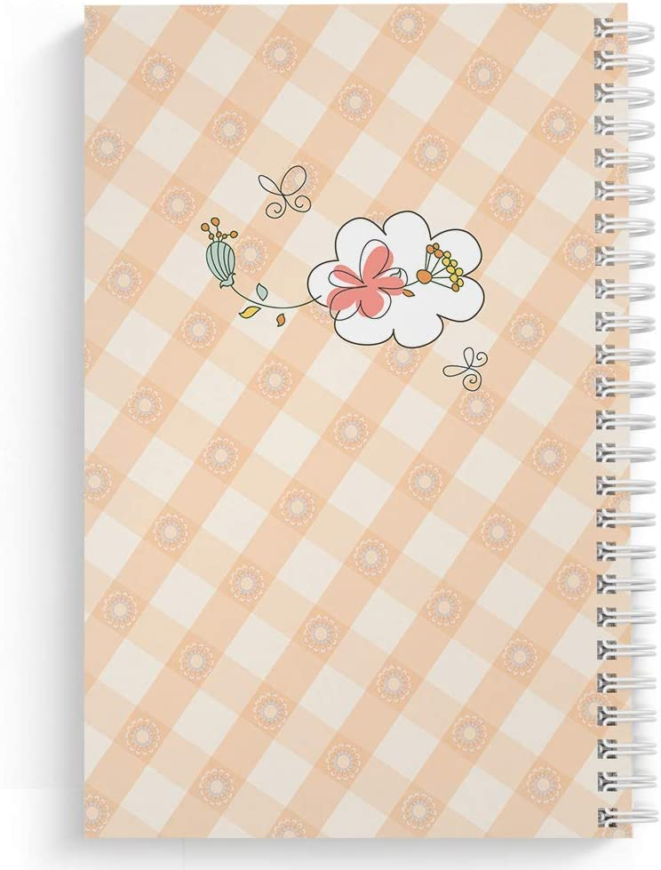 "120 Sketch pages Size: 8.5/"" x 11/"" Spring Picnic Childrens Personalized Notebook//Journal lay flat wire-o spiral Made in the USA Laminated Soft Cover"