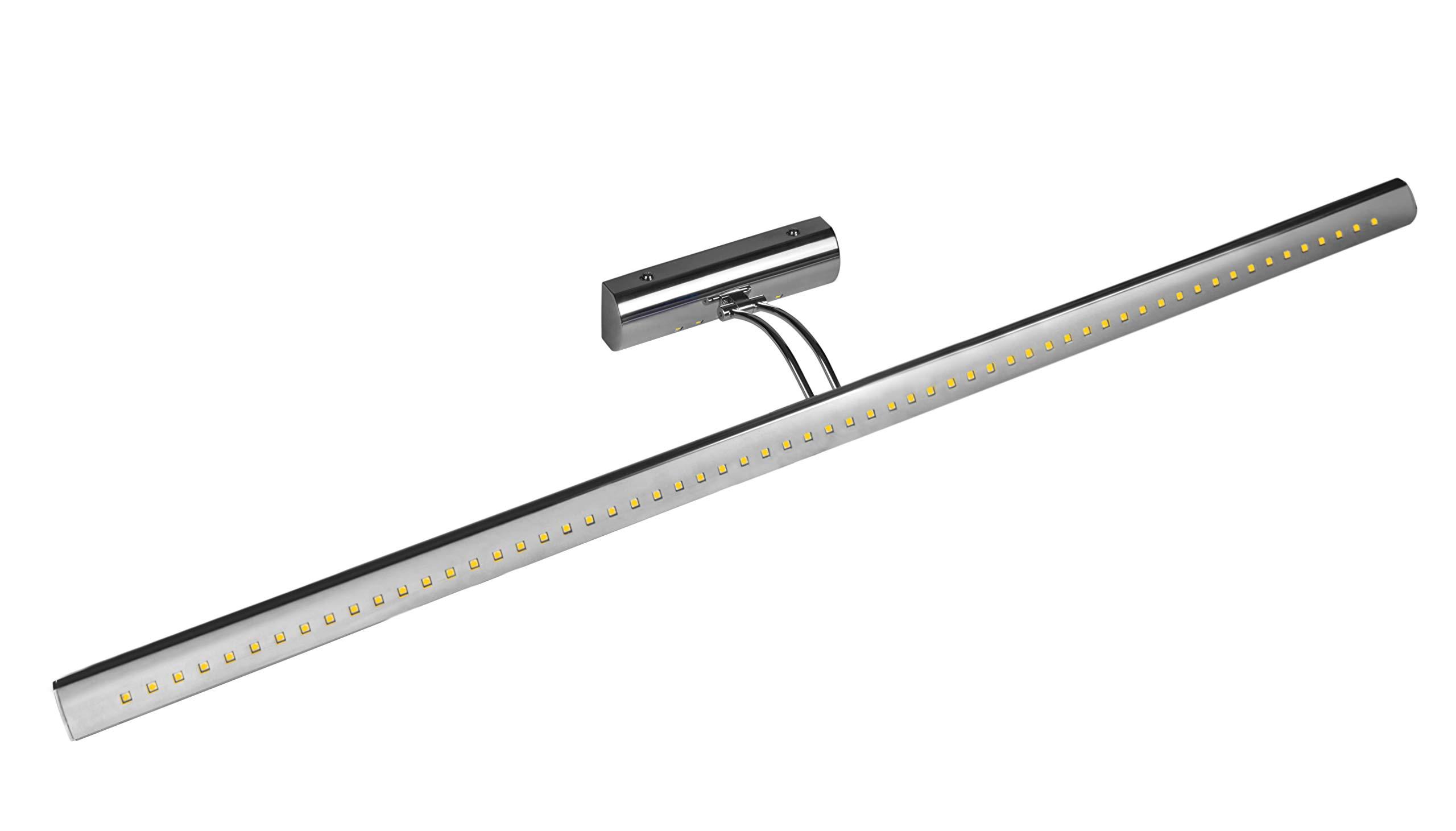 "Hyperikon 41"" Bath Vanity Light Fixture 15W, Modern Integrated LED Vanity Lighting, 1080 Lumen, Bathroom Vanity Lamp, Rotating Lamp Arm, Hardwired, 6000K"