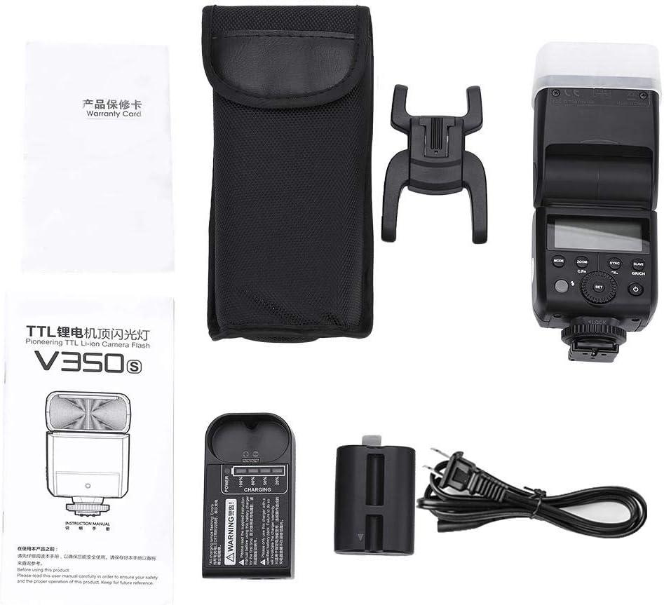 TTL HSS Camera Speedlite Flash with Li-ion Battery for Cano n Niko n Son y Fuj i AC100-240V Camera Flash TTL Speedlite V350 for Sony S