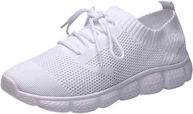 Cebbay Sneakers Homme Baskets, Chaussures légères tissées Respirantes de Grande Taille, Chaussettes Basses décontractées Shoes 39 46