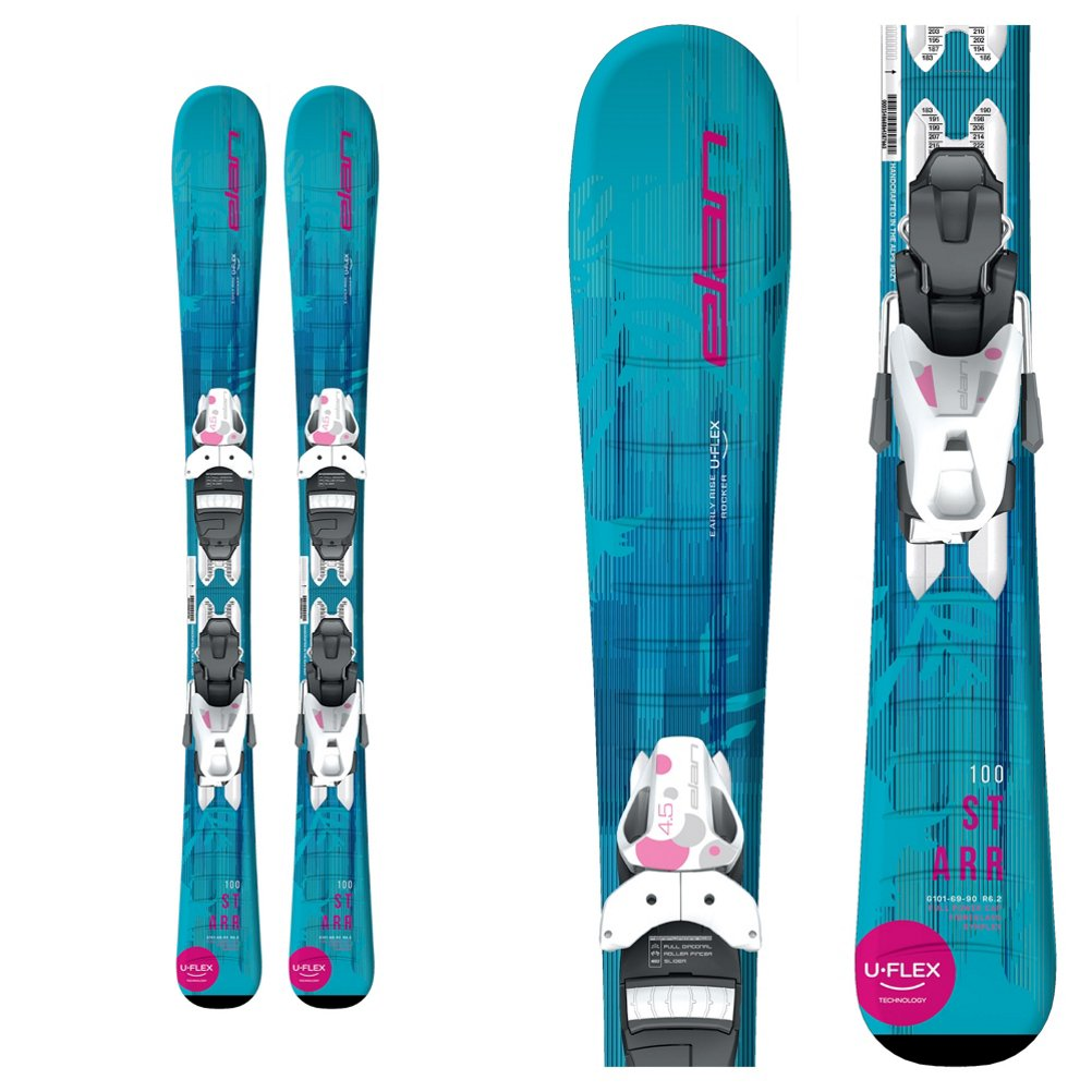 ELAN Starr Kids Skis with EL 4.5 Bindings 2019-100cm by Elan