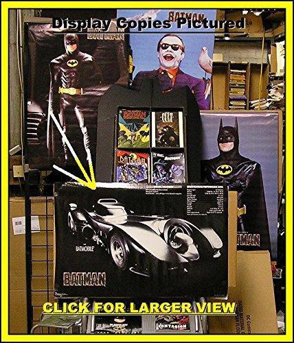 BATMAN MOVIE 1989 BATMOBILE ORIGINAL POSTER -