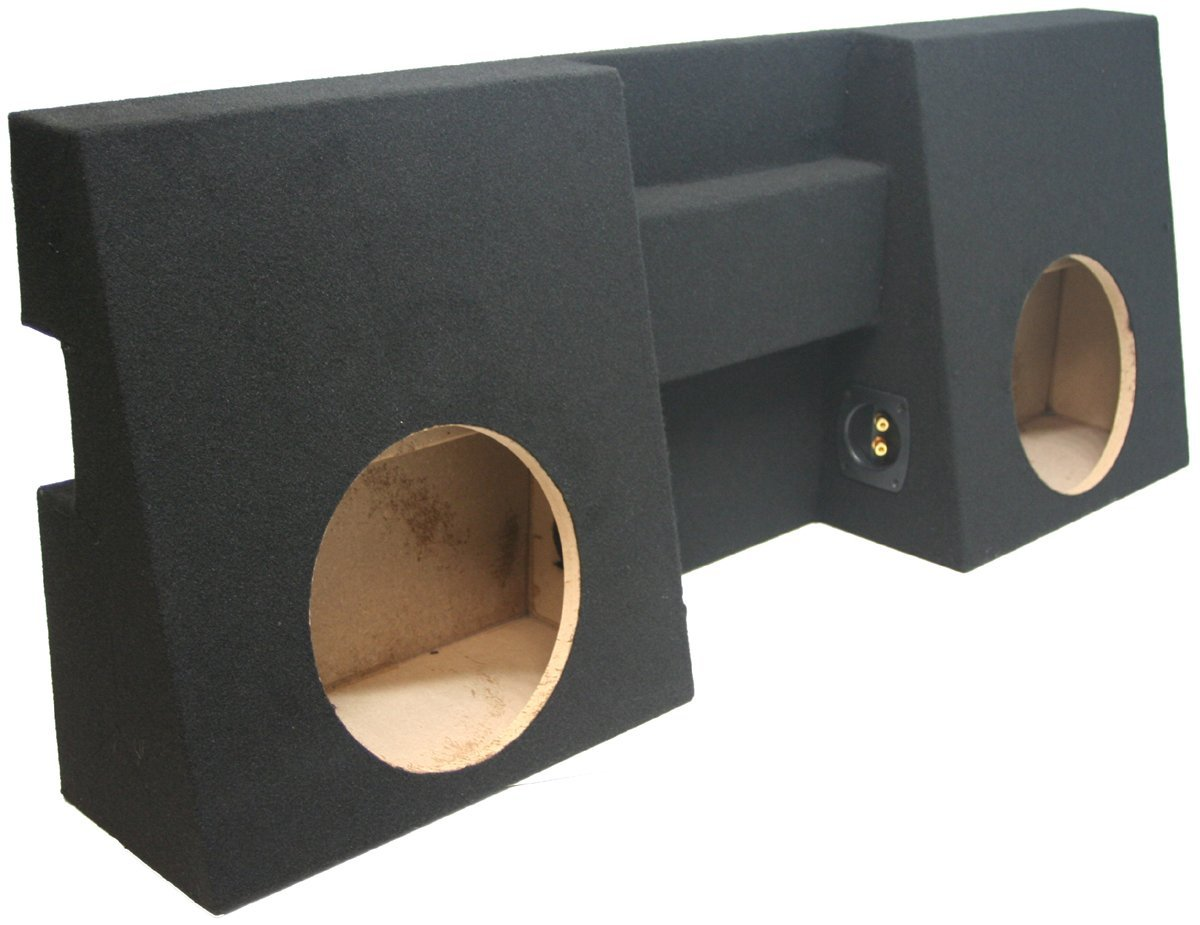 ASC Toyota Tacoma Double Cab Truck 2005-2014 Dual 10'' Subwoofer Custom Fit Sub Box Speaker Enclosure by American Sound Connection