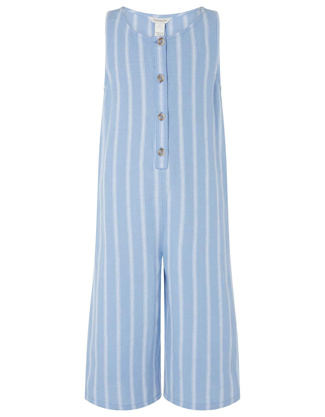 Monsoon Linen Blend Peta Romper & T-Shirt Daywear Sets - Girls - 9 Years Navy by Monsoon (Image #2)
