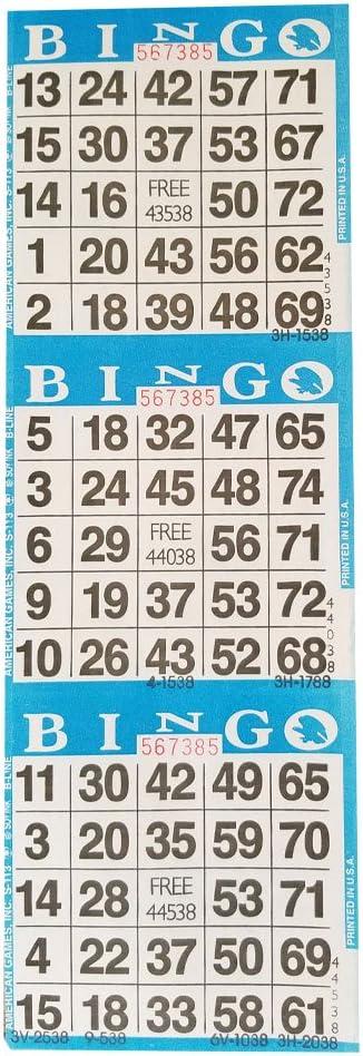 Jeune Amazon.com : American Games Bingo Paper Game Cards – 3 Card – 10 OB-66